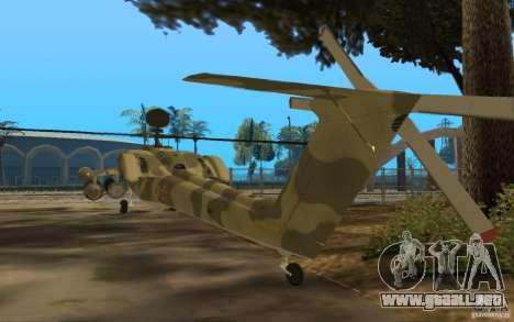 MI-28n para GTA San Andreas vista posterior izquierda