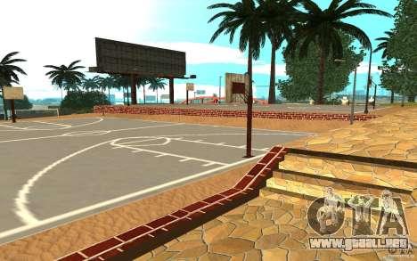 Nueva cancha de baloncesto de texturas para GTA San Andreas segunda pantalla