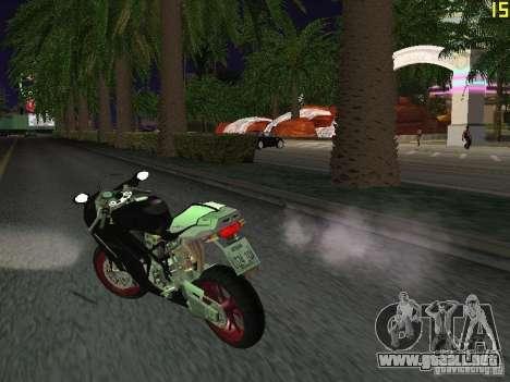 Ducati 999R para GTA San Andreas vista posterior izquierda