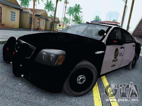 Chevrolet Caprice 2011 Police para GTA San Andreas
