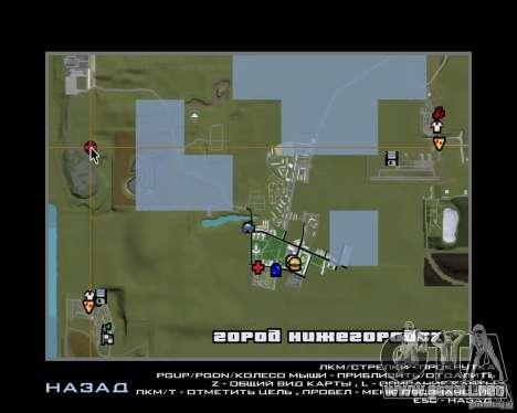 Nižegorodsk v0.1 BETA para GTA San Andreas quinta pantalla