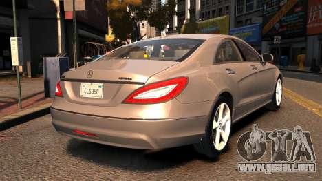 Mercedes-Benz DK CLS350 para GTA 4 Vista posterior izquierda