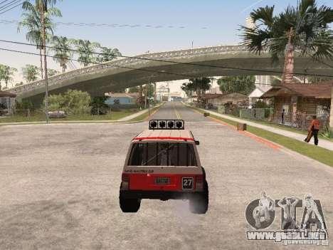 Jeep Cherokee 1984 para la vista superior GTA San Andreas