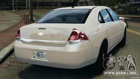 Chevrolet Impala Unmarked Detective [ELS] para GTA 4 Vista posterior izquierda
