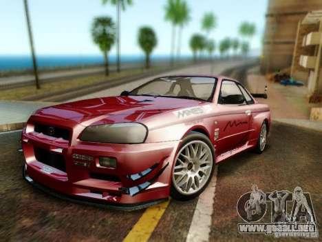 Nissan R34 Skyline GT-R para GTA San Andreas