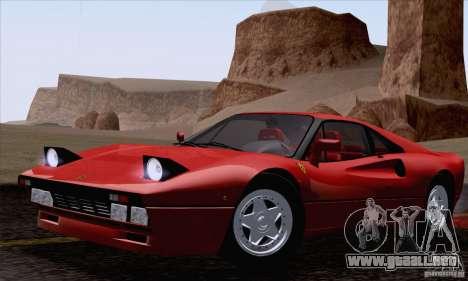 Ferrari 288 GTO 1984 para la visión correcta GTA San Andreas