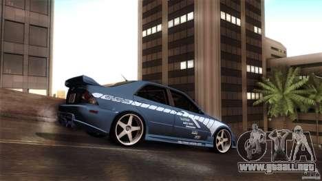 Lexus IS 300 Veilside para GTA San Andreas vista hacia atrás