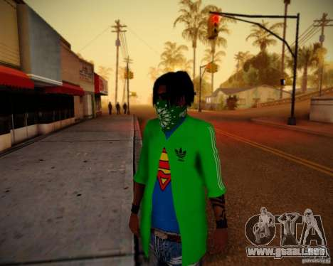 Skins pack gang Grove para GTA San Andreas