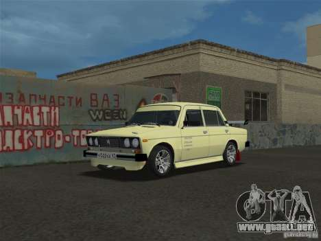 VAZ 2106 Sparco Tuning para GTA Vice City vista lateral izquierdo