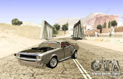Dodge Charger 1969 SpeedHunters para GTA San Andreas vista posterior izquierda