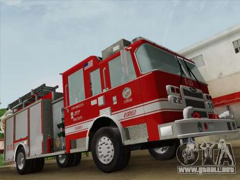 Pierce Saber LAFD Engine 10 para vista inferior GTA San Andreas