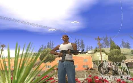 AK 101 para GTA San Andreas sucesivamente de pantalla