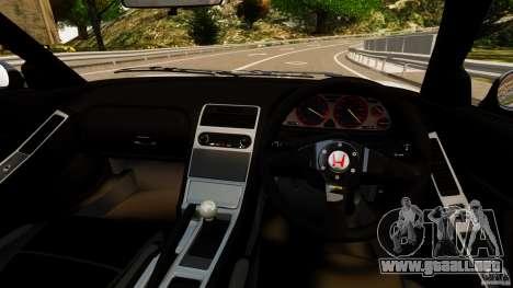 Honda NSX-R GT para GTA 4 vista hacia atrás