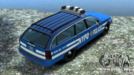 Chevrolet Caprice Police Station Wagon 1992 para GTA 4 left