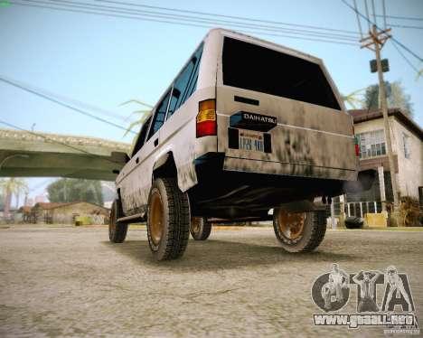 Daihatsu Taft Hiline Long para GTA San Andreas vista hacia atrás
