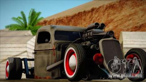 Rat Rod para GTA San Andreas vista hacia atrás