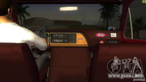 Ford E-150 Gang Burrito para GTA Vice City left