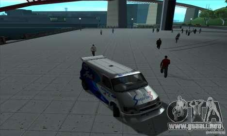 Ford Transit Supervan 3 2004 para visión interna GTA San Andreas