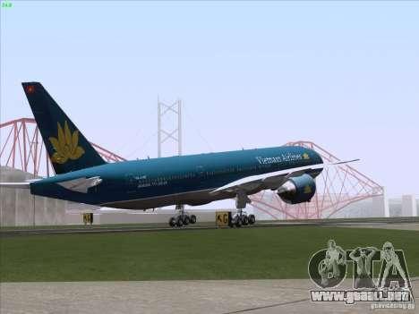 Boeing 777-2Q8ER Vietnam Airlines para el motor de GTA San Andreas