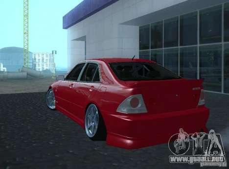 Toyota Altezza para la visión correcta GTA San Andreas