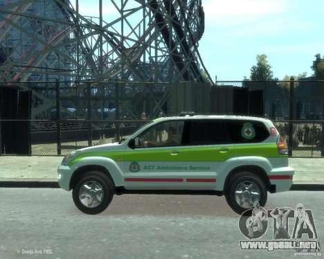 Toyota Land Cruiser Prado Police para GTA 4 left