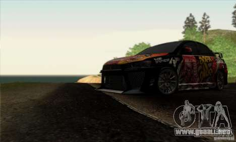 Mitsubishi Lancer Evolution X 2008 para GTA San Andreas interior