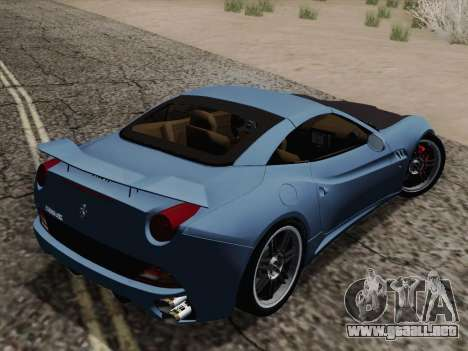 Ferrari California para vista inferior GTA San Andreas