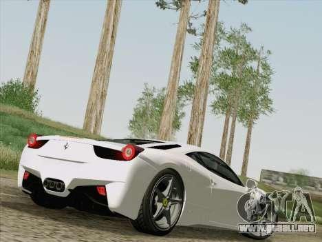 Ferrari 458 Italia 2010 para la vista superior GTA San Andreas