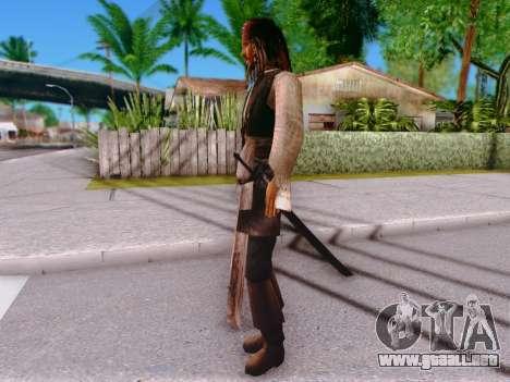 Jack Sparrow para GTA San Andreas sucesivamente de pantalla