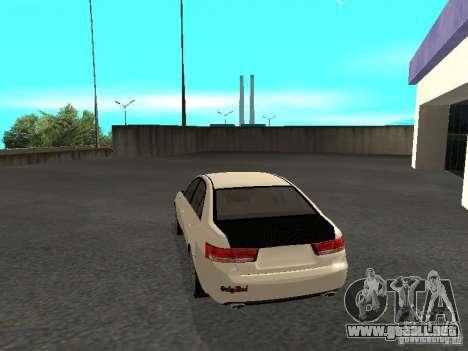 Hyundai Sonata 2008 para GTA San Andreas left
