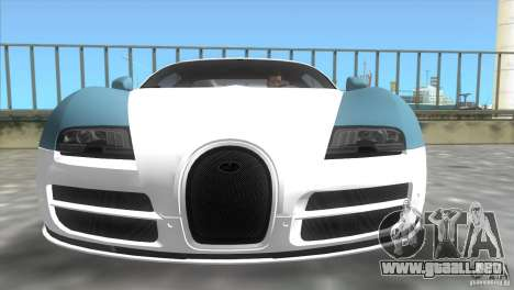 Bugatti ExtremeVeyron para GTA Vice City vista lateral izquierdo