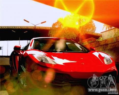 Lensflare Settings para GTA San Andreas sucesivamente de pantalla