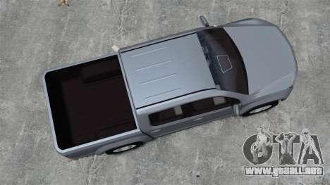 Volkswagen Amarok TDI para GTA 4 visión correcta