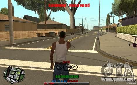 Cleo HUD by Cameron Rosewood V1.0 para GTA San Andreas sucesivamente de pantalla