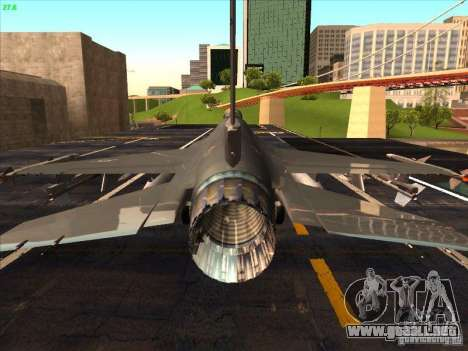 F-16C Fighting Falcon para visión interna GTA San Andreas