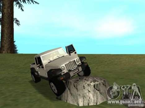 Jeep Gladiator para GTA San Andreas vista hacia atrás