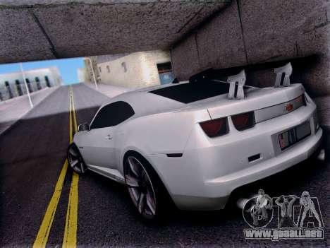 Chevrolet Camaro ZL1 SSX para GTA San Andreas vista posterior izquierda