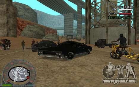 New Sabre para GTA San Andreas vista hacia atrás