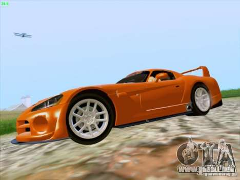 Dodge Viper GTS-R Concept para GTA San Andreas vista hacia atrás