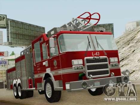 Pierce Arrow LAFD Ladder 43 para GTA San Andreas left