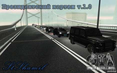 La caravana presidencial v. 1.2 para GTA San Andreas