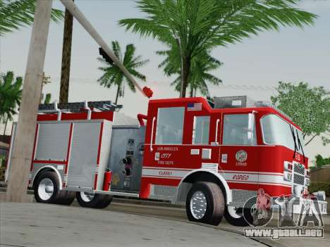 Pierce Saber LAFD Engine 10 para vista lateral GTA San Andreas