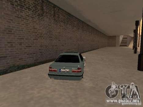 BMW E34 540i V8 para GTA San Andreas vista posterior izquierda
