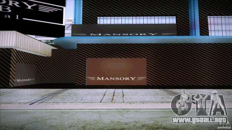 Mansory Club Transfender & PaynSpray para GTA San Andreas sucesivamente de pantalla