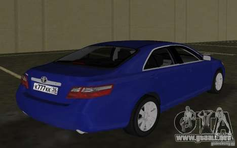 Toyota Camry 2007 para GTA Vice City visión correcta