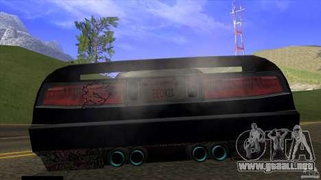 Infernus v3 by ZveR para GTA San Andreas vista posterior izquierda