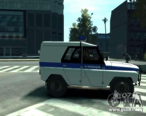 UAZ 31512 policía para GTA 4 visión correcta