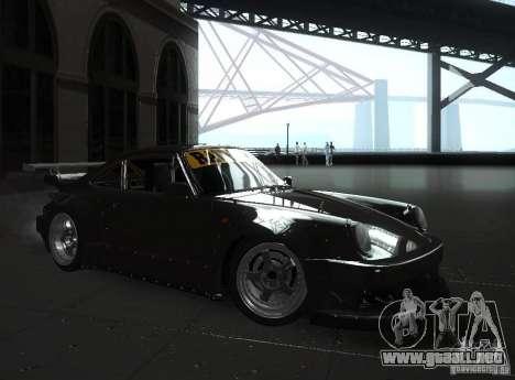 Porsche 911 Turbo RWB para GTA San Andreas vista posterior izquierda