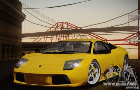 Lamborghini Murcielago 2002 v 1.0 para la visión correcta GTA San Andreas