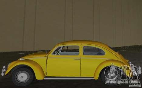 Volkswagen Beetle 1963 para GTA Vice City vista lateral izquierdo